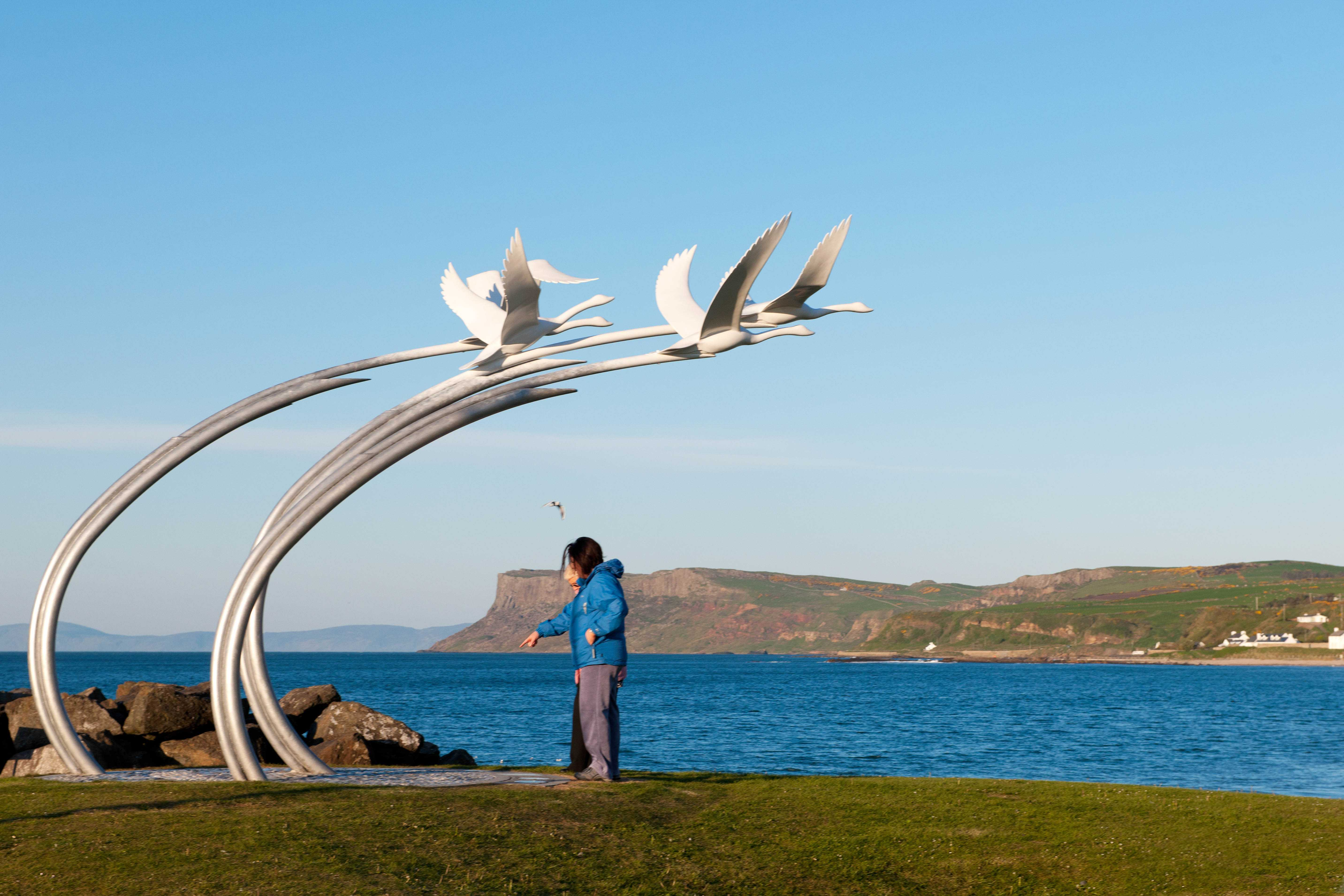 Children of Lir Sculpture, Ballycastle